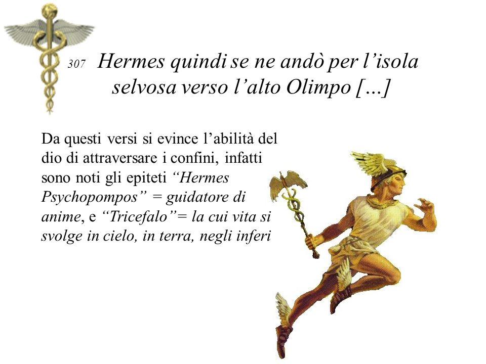307 Hermes quindi se ne andò per l'isola selvosa verso l'alto Olimpo […]